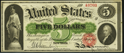1862 $5 Legal Tender Red Seal