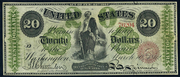 1862 $20 Legal Tender Red Seal Seal
