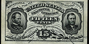 1863 4th Issue 15 Cent Specimen One Sided Blank