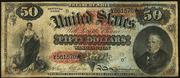 1869 $50 Legal Tender Red Seal