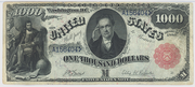 1878 $1000 Legal Tender Red Seal with rays