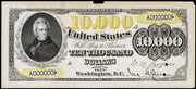 1878 $10000 Legal Tender Brown Seal