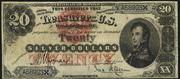 1878 $20 Silver Certificates Red Seal