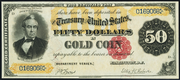 1882 $50 Gold Certificate Brown Seal