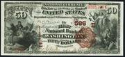 1882 $50 National Bank Notes Brown Seal