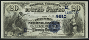 1882 $20 National Bank Notes Blue Seal
