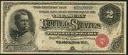 1886 $2 Silver Certificates Red Seal