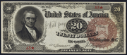 1890 $20 Treasury Note Red Seal