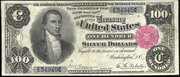 1891 $100 Silver Certificates Red Seal