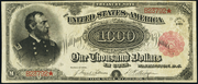 1891 $1000 Treasury Note Red Seal