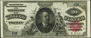 1891 $20 Silver Certificates Red Seal