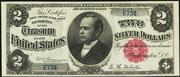 1891 $2 Silver Certificates Red Seal