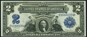 1899 $2 Silver Certificates Blue Seal
