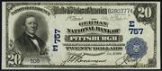 1902 $20 National Bank Notes Blue Seal
