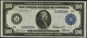 1914 $100 Federal Reserve Note Blue Seal