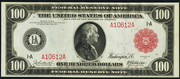1914 $100 Federal Reserve Note Red Seal
