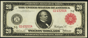 1914 $20 Federal Reserve Note Red Seal