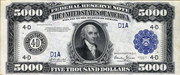 1918 $5000 Federal Reserve Note Blue Seal