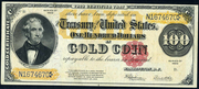 1922 $100 Gold Certificate Red Seal