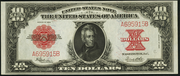 1923 $10 Legal Tender Red Seal with scallops