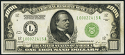 1928 $1000 Federal Reserve Note Green Seal