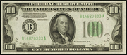 1934A $100 Federal Reserve Note Green Seal