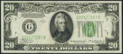1934A $20 Federal Reserve Note Green Seal