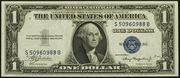 1935A $1 Silver Certificates Blue Seal