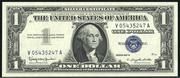 1957B $1 Silver Certificates Blue Seal