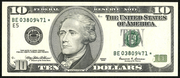 2003 $10 Federal Reserve Note Green Seal