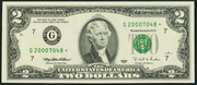 2003A $2 Federal Reserve Note Green Seal