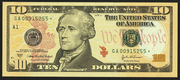 2004A $10 Federal Reserve Note Green Seal