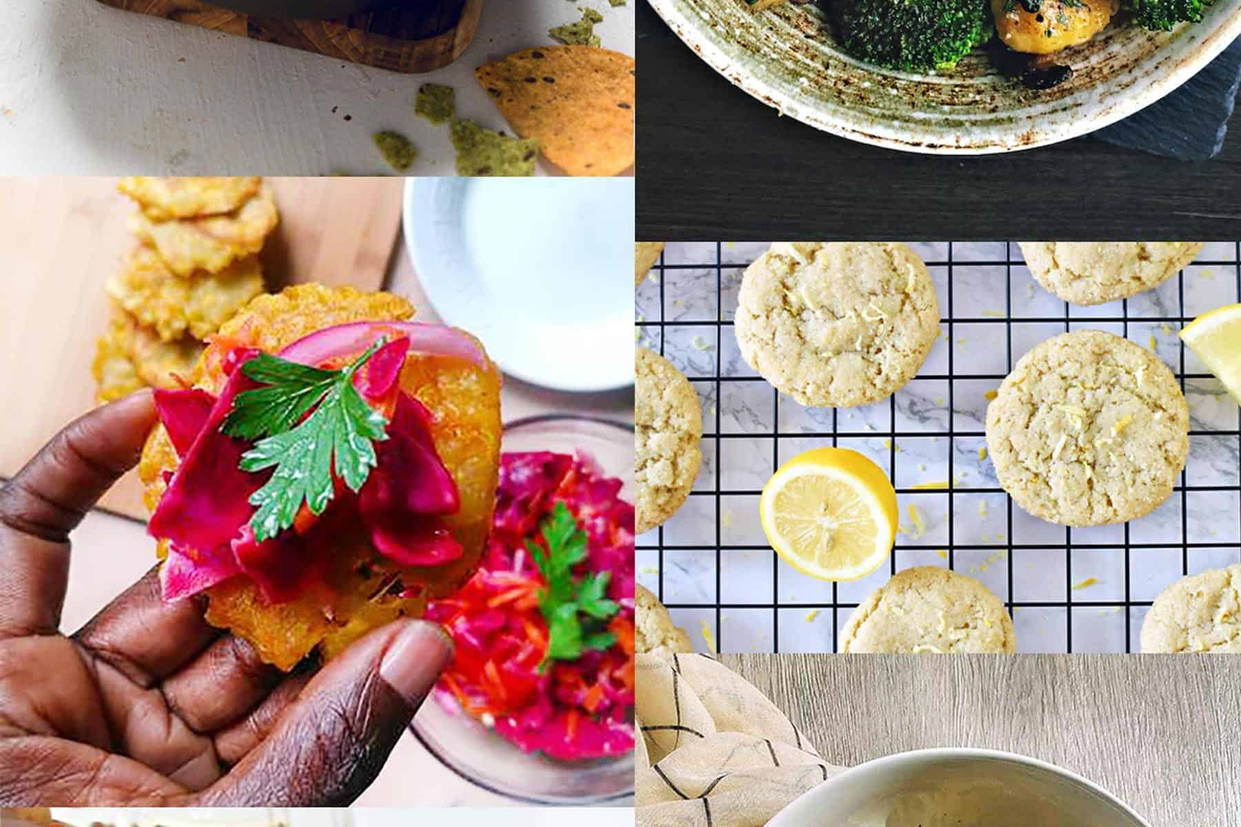 Image collage of Low-Effort Vegan Recipes from Black creators