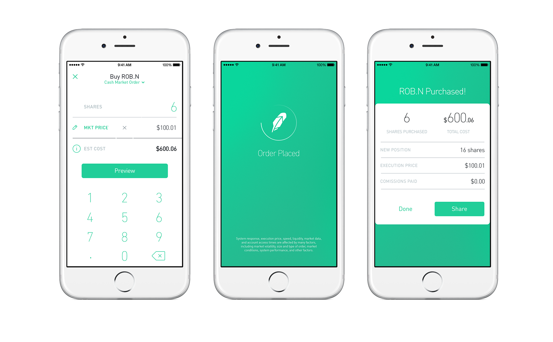 Robinhood app interface