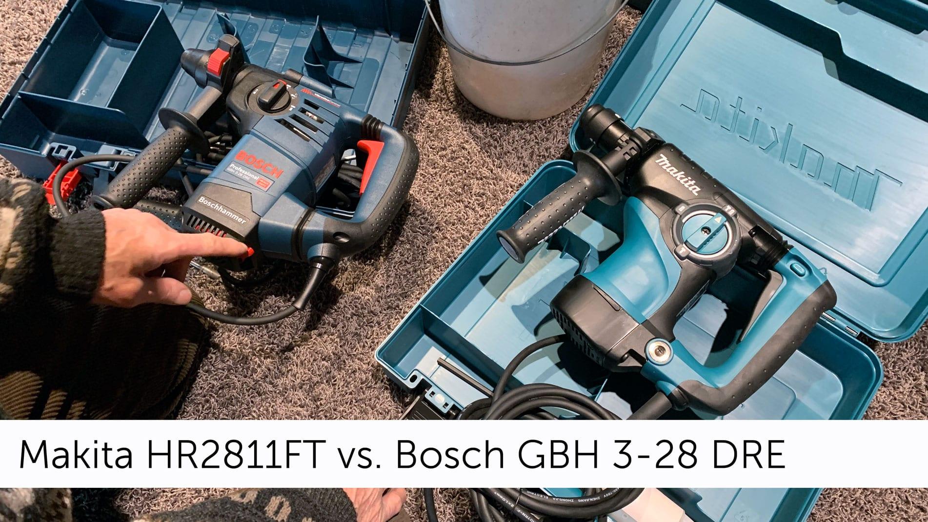 Bohrhammer Test: Makita HR2811FT vs. Bosch GBH 3-28 DRE Professional