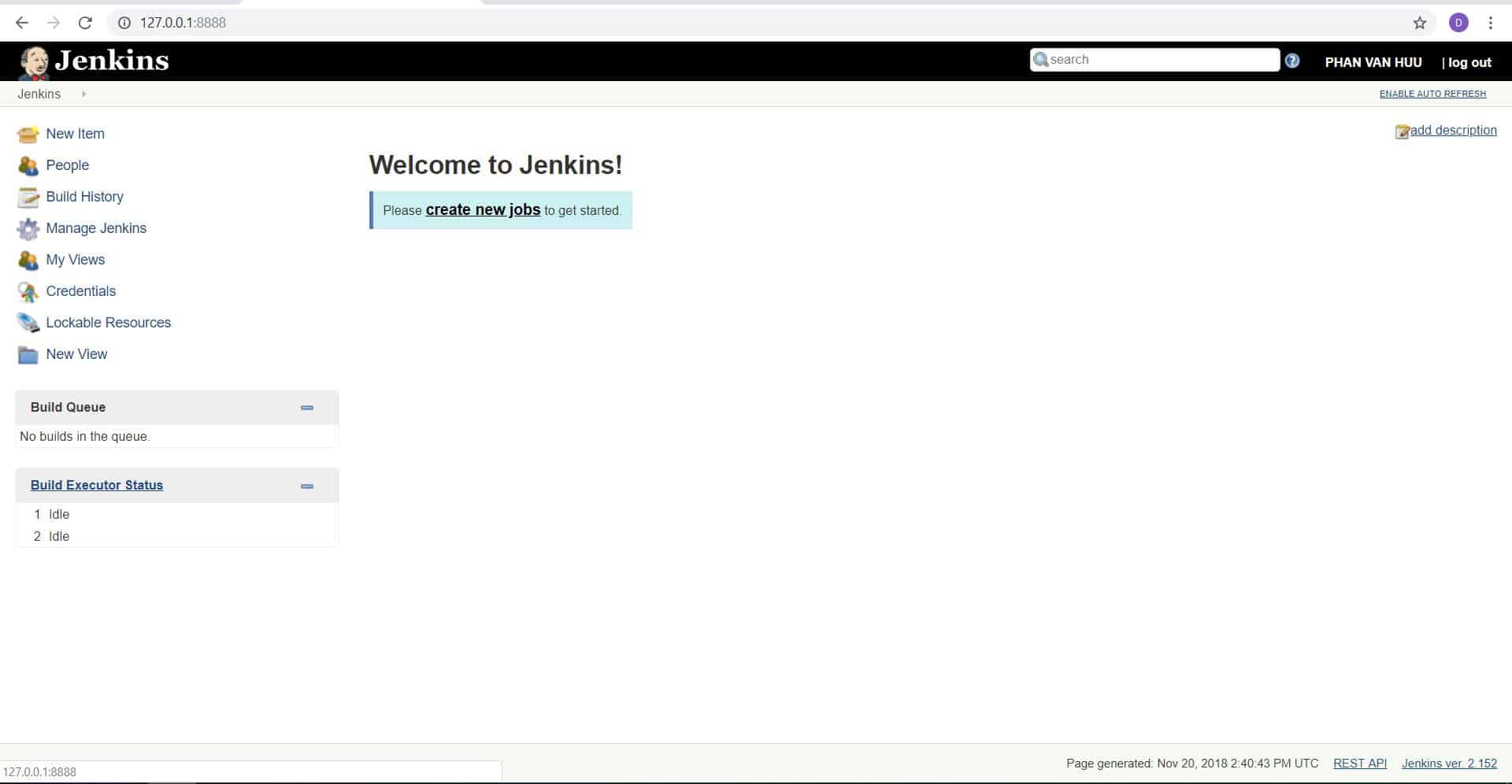 How to install jenkins using vagrant windows10