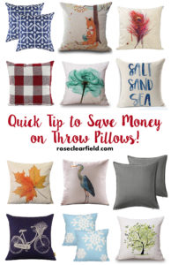 Quick Tip to Save Money on Throw Pillows! | https://www.roseclearfield.com
