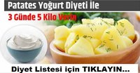 Patates ve Yoğurt Diyetiyle 3 Günde 5 Kilo