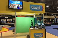 A Dallas green screen photo booth for the Travel Channel at Market Center