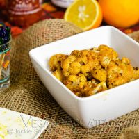 Thai Curry Cauliflower with Coconut Lime Aioli