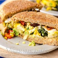 Tofu Scramble Breakfast Sandwiches