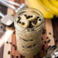 Peanut Butter Banana Chocolate Chia Parfait