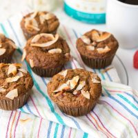 Strawberry Banana Nut Protein Muffins
