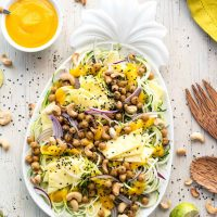 Pineapple Teriyaki Chickpea Zoodles