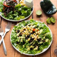 Vegan Yack Attack On the Go!: Portobello Fajita Salad