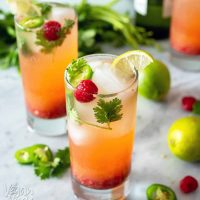 Pineapple Raspberry Wine Spritzer