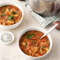 Slow Cooker Lima Bean Tomato Stew