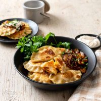 Vegan Cheesy Sweet Potato Pierogi