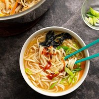 Vegan Spicy Udon Noodle Soup [The Friendly Vegan Cookbook]