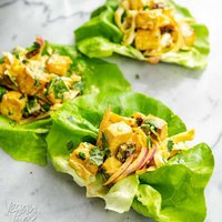 Curried Tofu Lettuce Cups